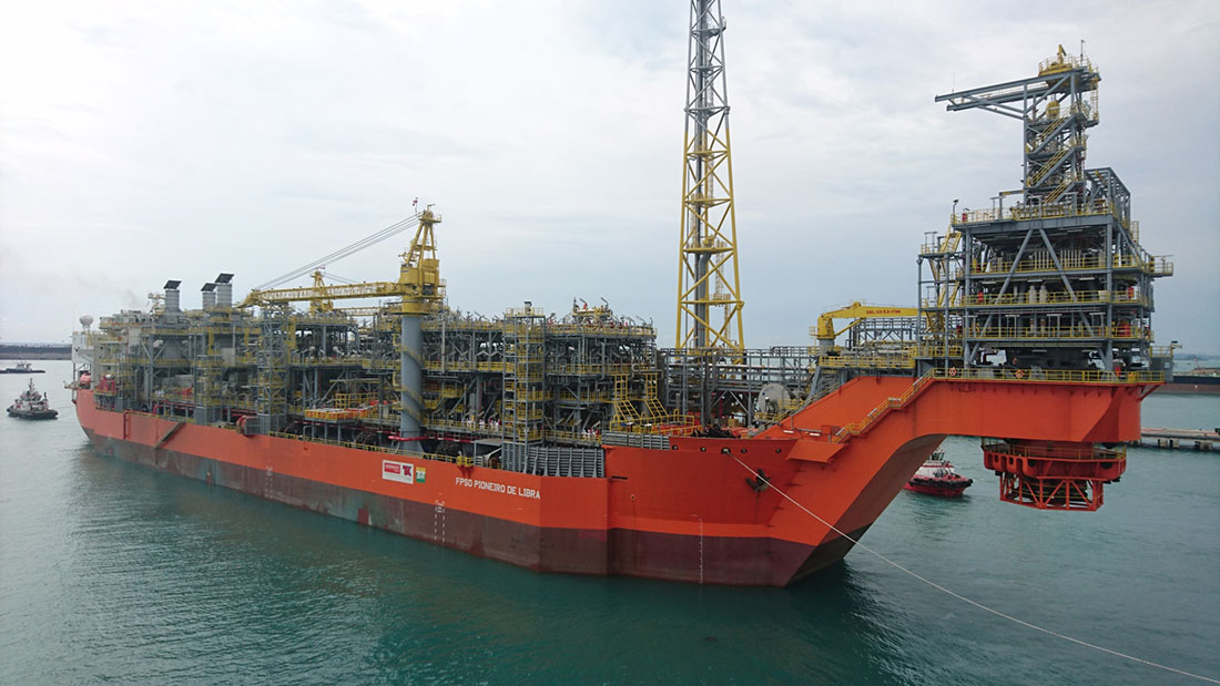 First Libra field oil platform, already under production in Brazil